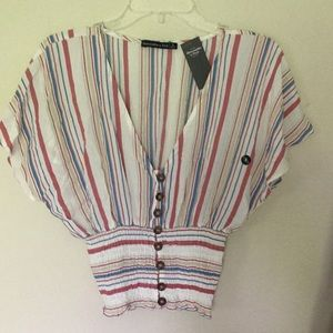 Abercrombie Striped Top NWT